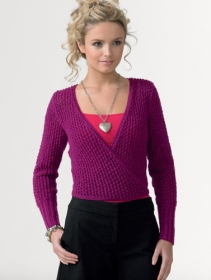 JC Brett Knitting Pattern - Ladies Crossover Cardigan JB106