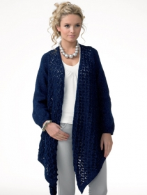 JC Brett Knitting Pattern - Long Ladies Cardigan JB107