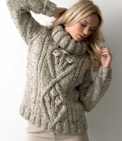 JC Brett Knitting Mega Chunky Ladies Sweater JB111