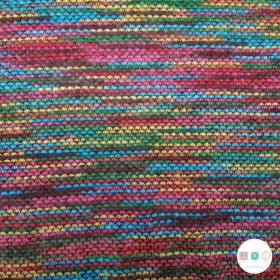 Multicolour Sweater Knit - Polyester - 158cm wide - Dressmaking Fabric