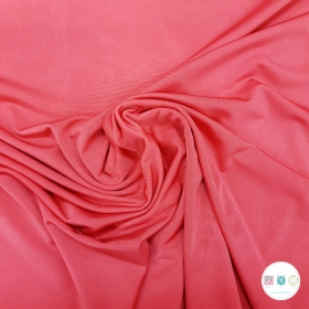 Coral Pink - Stretch Lining - Polyester - 150cm - Dressmaking Fabric