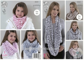 King Cole KC4541 - Childrens Snood Knitting Pattern