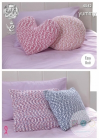 King Cole KC4542 Yummy - Easy Knit Cushions Pattern