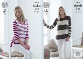 King Cole KC4834 - Ladies Sweater Patterns