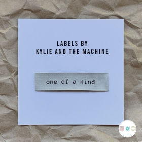 Gift Idea - Kylie and the Machine - Woven Labels - One of a Kind