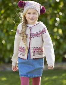 Knitting Pattern by SIrdar- Children's Cardigan & Hat in Sirdar Country Classic DK