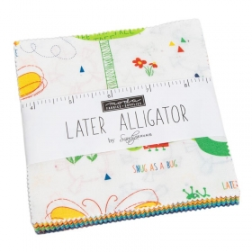 Later Alligator Charm Pack - Animals - Precuts - 5 inch - Charm Pack - Childrens Material - by Sandy Gervais for Moda Fabric