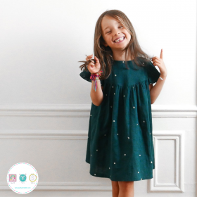Louise Dress And Blouse Sewing Pattern  - by Ikatee - French Sewing Patterns for Kids - Childrens Dressmaking