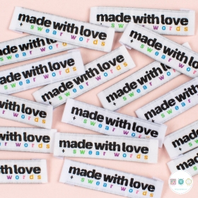 Gift Idea - Kylie and the Machine Woven Labels - Made with Love + Swear Words Labels