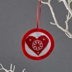 Mini Heart Cross Stitch Kit