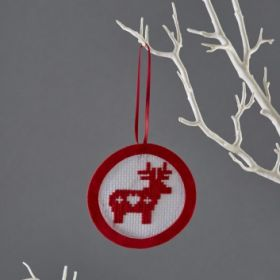 Mini Reindeer Cross Stitch Kit