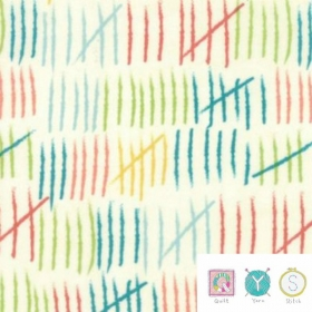 Lines - Coated Cotton Laminate Fabric - Mixed Bag Collection by Studio M for Moda Fabric