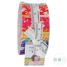 Painted Garden - Modern Floral Pre-Cut - Jelly Roll - By Crystal Manning for Moda Fabric