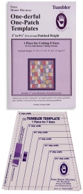 Tumbler Template Kit - by Marti Michell - One-derful One-Patch Templates - Quilting Ruler