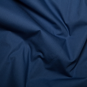 Navy Blue Solid Cotton Poplin Fabric