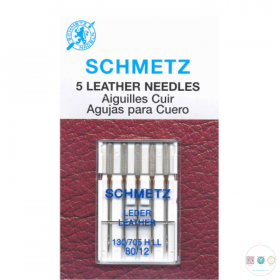 Schmetz - 80/12 Leather Universal Sewing Machine Needles - 5 pack - Uncarded