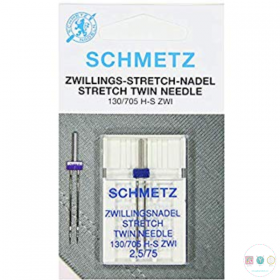 Schmetz - 2.5mm - Universal Twin Stretch Needle - 1 pack - Uncarded