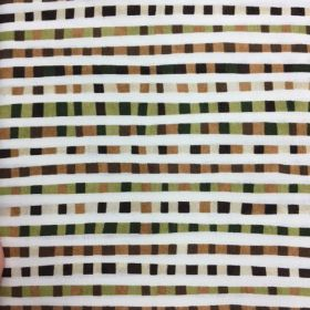 Modern Elements - Green and Brown Squares - Remnant Basket Sale