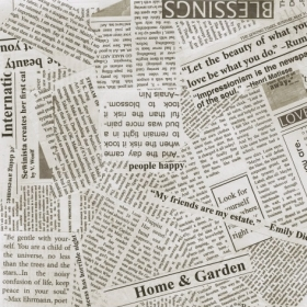 Newspaper Print in Spackle - Text- Script - 108