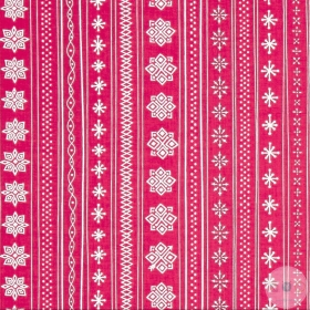 Christmas Patchwork Fabric - Mingle & Jingle Fabric - Nordic Pattern