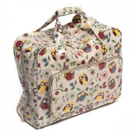 Owl Vinyl Sewing Machine Bag - Carry Craft Tote