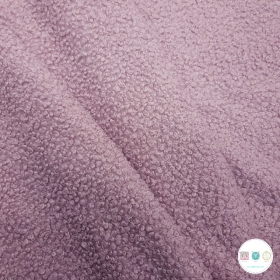 Rose Pink Boucle - Teddy Bear Style - Polyester Coating - Dressmaking Fabric
