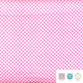 Pink Gingham Baby Flannel  - Ric Rac Paddywack by Kim Diehl for Henry Glass Fabrics