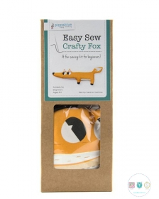 Easy Sew Kit - Crafty Fox - Beginners Sewing Project - by Pippablue - Childrens Kit