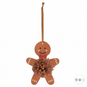 Pom Pom Decoration Kit - Gingerbread Man - Pack of 4  - Kits and Gifts