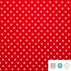 Small Daisy Red Floral - Hop, Skip and a Jump by American Jane for Moda Fabric