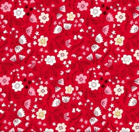 Red Floral Fabric - Just Another Walk In The Woods Collection by Stacy Iest Hsu - Moda Fabric - Patchwork & Quilting