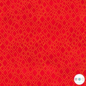 Twist & Shout - Red Diamonds - Cotton Fabric by Rivers Bend - Patchwork & Quilting