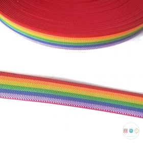 Rainbow Elastic - 25mm wide - Approx 1inch - Dressmaking - Textile Crafts