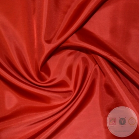 Anti Static Polyester Dress Lining Fabric in Red - Dressmaking Lining