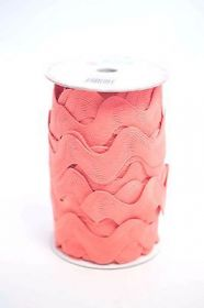 Riley Blake Baby Pink Jumbo Ric Rac - Trim for Fabric Projects - Polyester Embellishment - Haberdashery