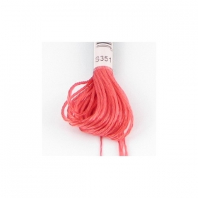 Orange Satin Embroidery Thread DMC s351 - Coral - Rayon - Six Strand - Embroidery Floss Thread