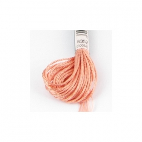 Orange Satin Embroidery Thread DMC s352 - Light Coral - Rayon - Six Strand - Embroidery Floss Thread