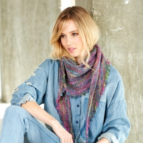 Batik Elements Dk Wool Scarves Pattern by Stylecraft - sc9409