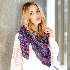 Batik Elements Dk Wool Scarf Pattern by Stylecraft - sc9411
