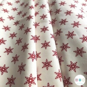 Scandi Snowflakes - Christmas - Cotton Poplin Fabric - by Rose & Hubble - Craft & Dressmaking
