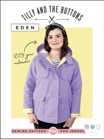Tilly and The Buttons - Eden Coat - Sizes UK 6 - 20 - Ladies Sewing Pattern