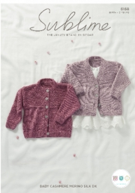 Sublime 6168 -  Cardigan in Sublime Baby Cashmere - Knitting Pattern