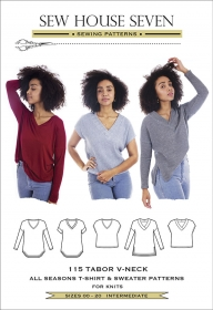 Sew House Seven - Tabor V Neck T-Shirt and Sweater Sewing Pattern