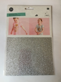 Silver Glitter Iron On Sheet