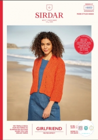 Sirdar 10053 - Girlfriend Chunky Cardigan Pattern  - Ladies Knitting Pattern