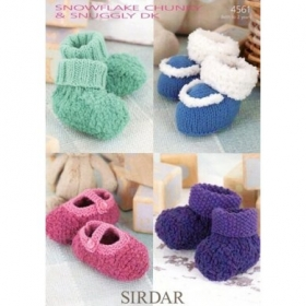 Shoes And Bootees in Sirdar Snuggly Snowflake Chunky - 4561