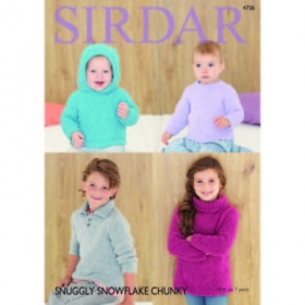 Baby & Childrens Sweater Patterns in Sirdar Snuggly Snowflake Chunky - 4726