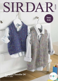 Sirdar 5208 - Baby & Childrens Tanktop & Waistcoat - Snuggly Doodle DK - Leaflet - Knitting Pattern