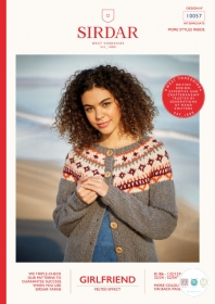 Sirdar 10057 - Girlfriend Chunky Fairisle Sweater - Ladies Knitting Pattern