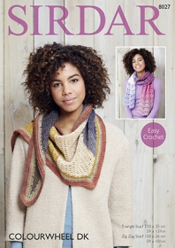 Sirdar 8027 - Colourwheel Dk Easy Crochet Pattern